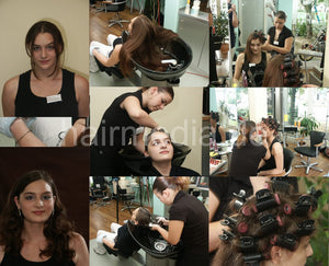 351 Vanessa wash+curl 30 min video for download