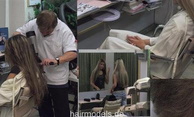 653 AlisaF blowdry 15 min video for download