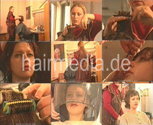 Load image into Gallery viewer, 0054 russian barberette Olga 1990 vintage wash and set 22 min video for download