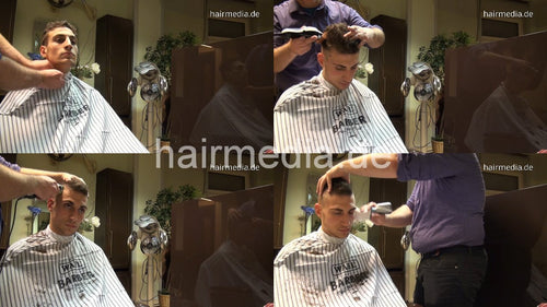 297 Davide 2 cut by barber 23 min HD video for download