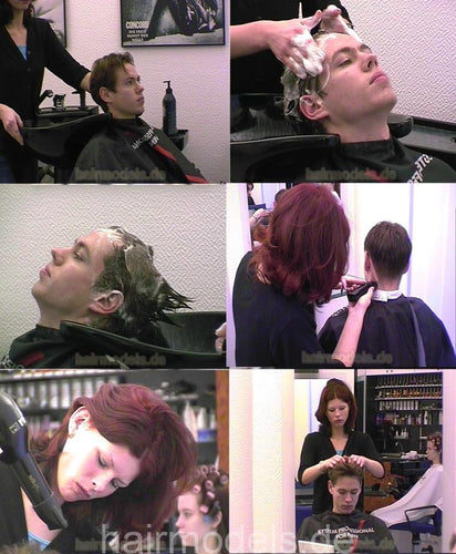 252 Jane Barberette shampoo and buzz 14 min video for download