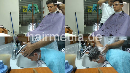 2005 s1729 Marco cam 2 haircut, shave, strong shampoo fwd, 20 min HD video for download