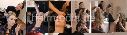 1032 Josephine shampoo blowout and style 16 min video for download