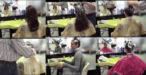 9004 Maike up by barber shampoo into dry hair 21 min video for download
