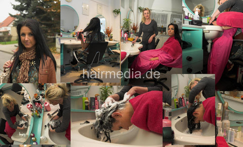 6084 AnjaS shampoo and wetset complete 71 min video and 99 pictures DVD