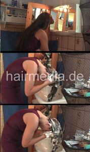 1005 Chrisa 2 self forward shampoo hairwash 15 min HD video for download