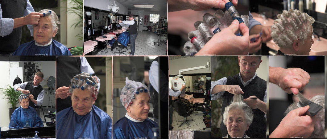 6066 s0452 shampoo and set by barber complete 35 min video DVD