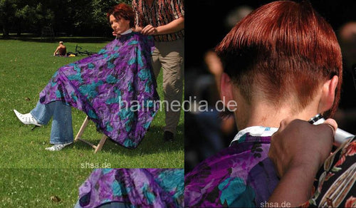 866 Sabine outdoor haircut session event 18 min video and 140 pictures for download