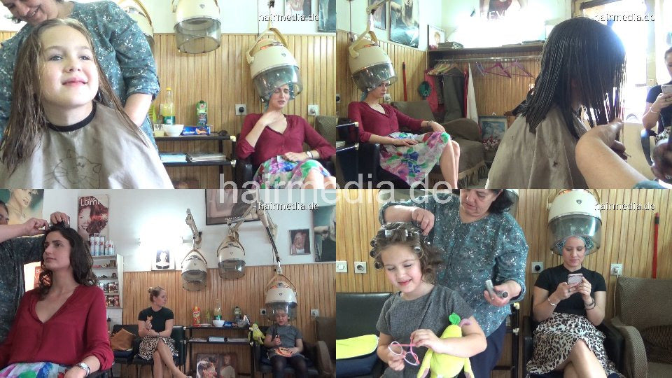 1138 06 Ivonne child haircut trim and wetset 35 min HD video for download