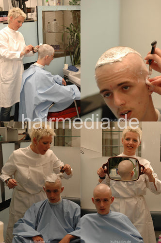 223 Markus Buzz and Headshave 24 min video +140 pictures DVD