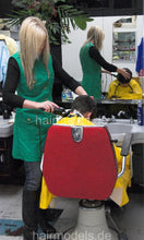 Load image into Gallery viewer, 247 Swetlana buzzing young boy in barbershop Nyonkittel Vinylcape