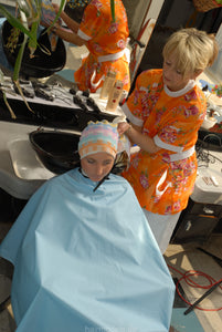 121 Flowerpower 2, Part 6 AnjaS, backward shampooing in tieclosure shampoocape backward in barbershop