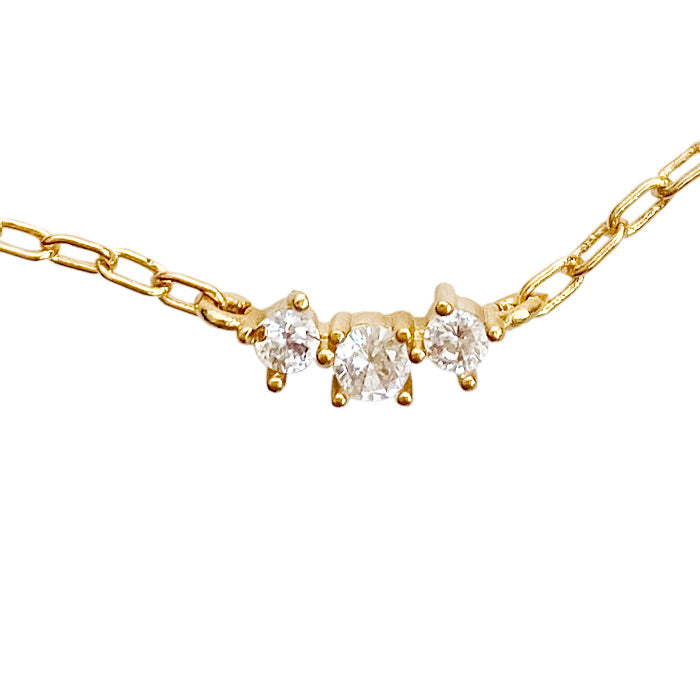 ZIRCONIA STARDUST CHAIN NECKLACE