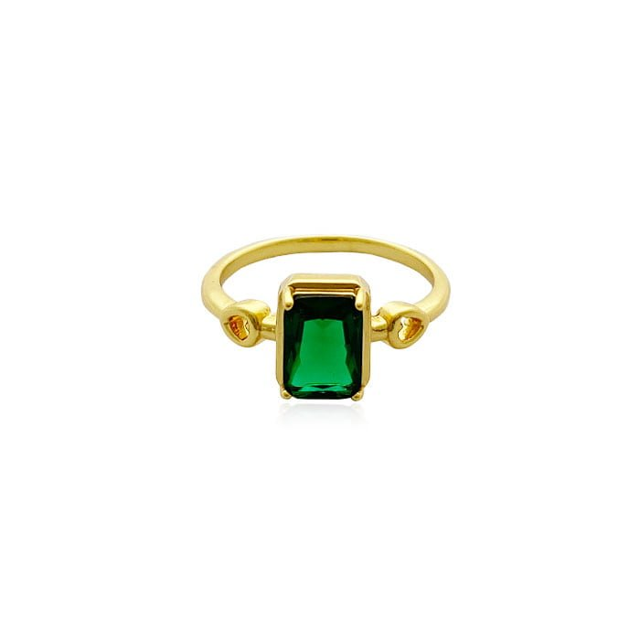 CUBIC EMERALD RING