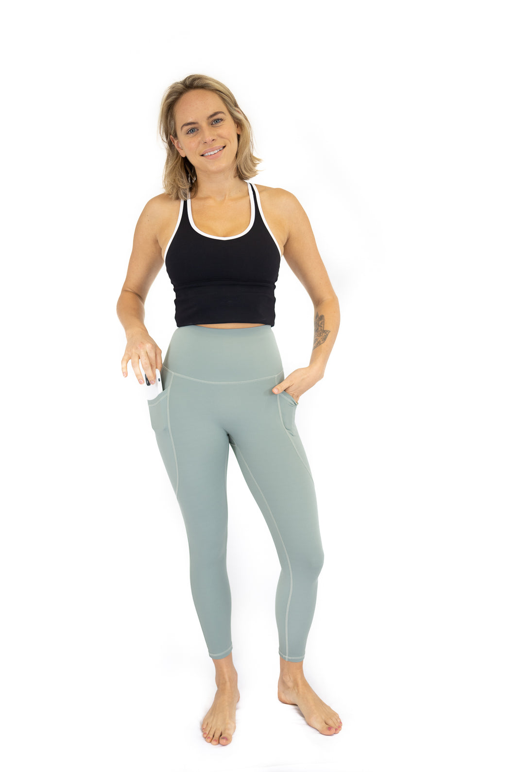 7/8 Shaper Move Leggings + Pockets - Spearmint