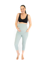 Load image into Gallery viewer, 3/4 Maternity Leggings + Pockets - Spearmint