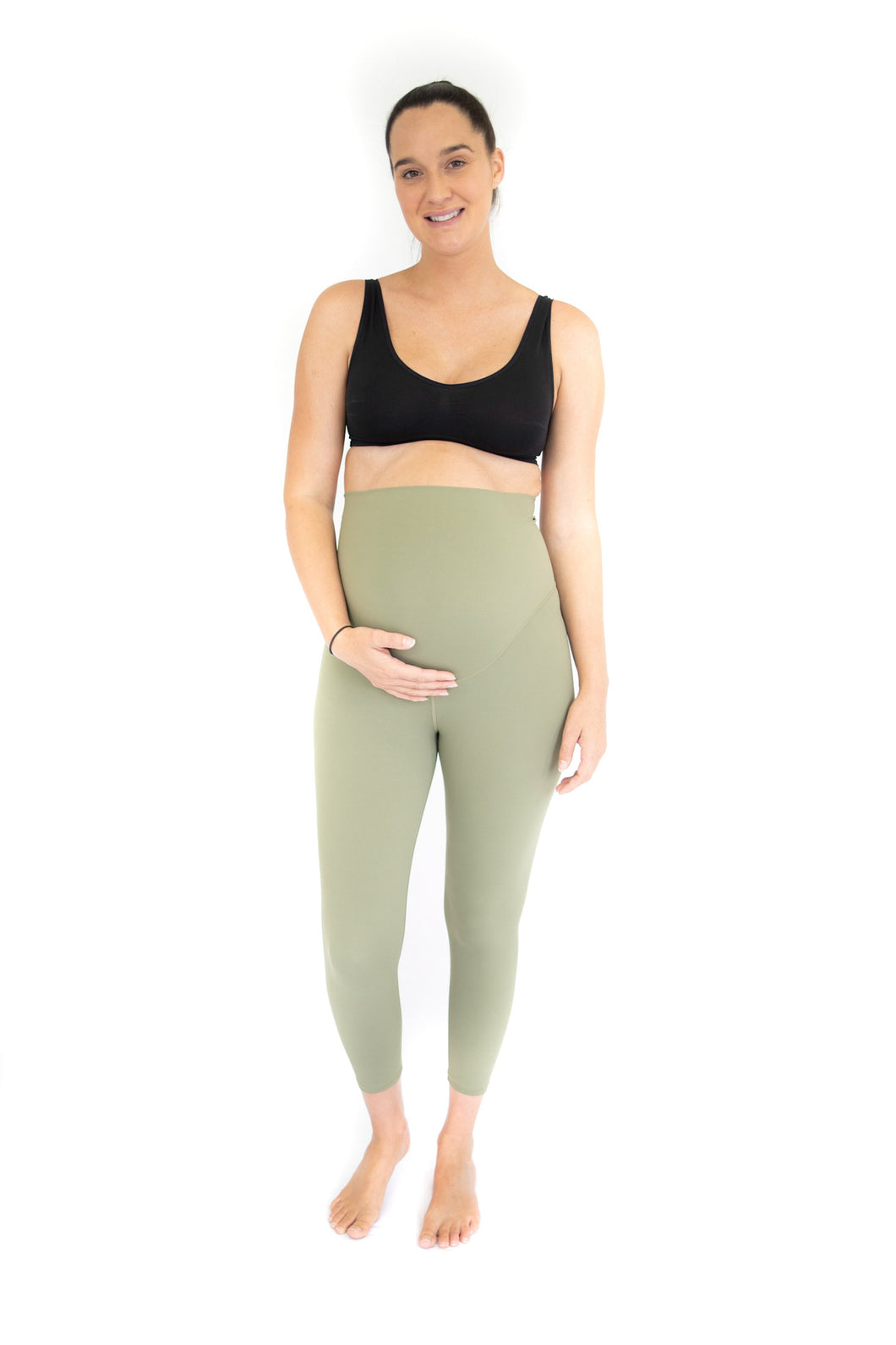 7/8 Maternity Leggings - Olive