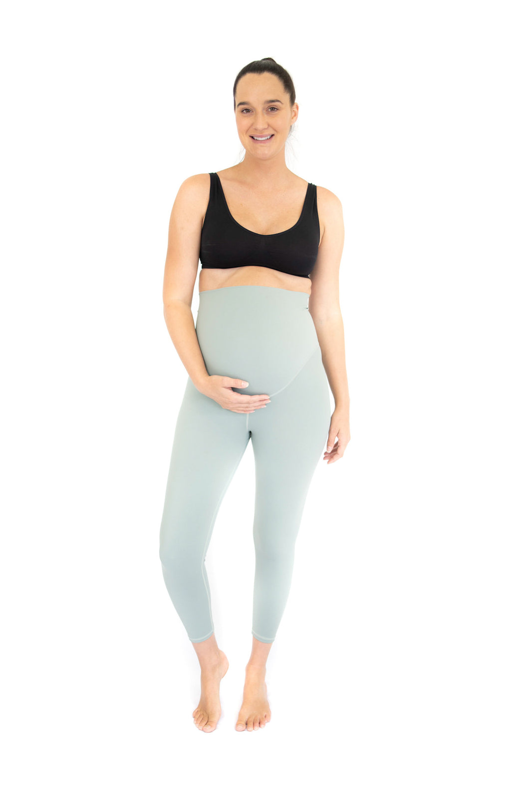 7/8 Maternity Leggings - Spearmint