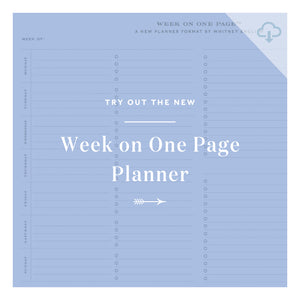 Printable || Week on One Page Try-It!