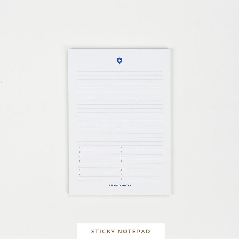 A Plan for Health || Sticky Notepad