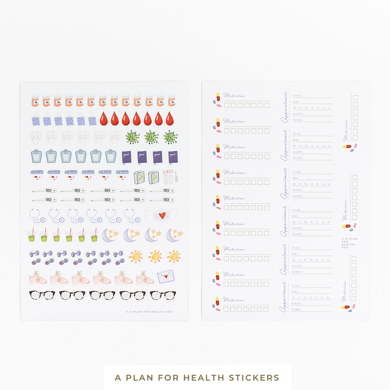 A Plan for Health || Stickers