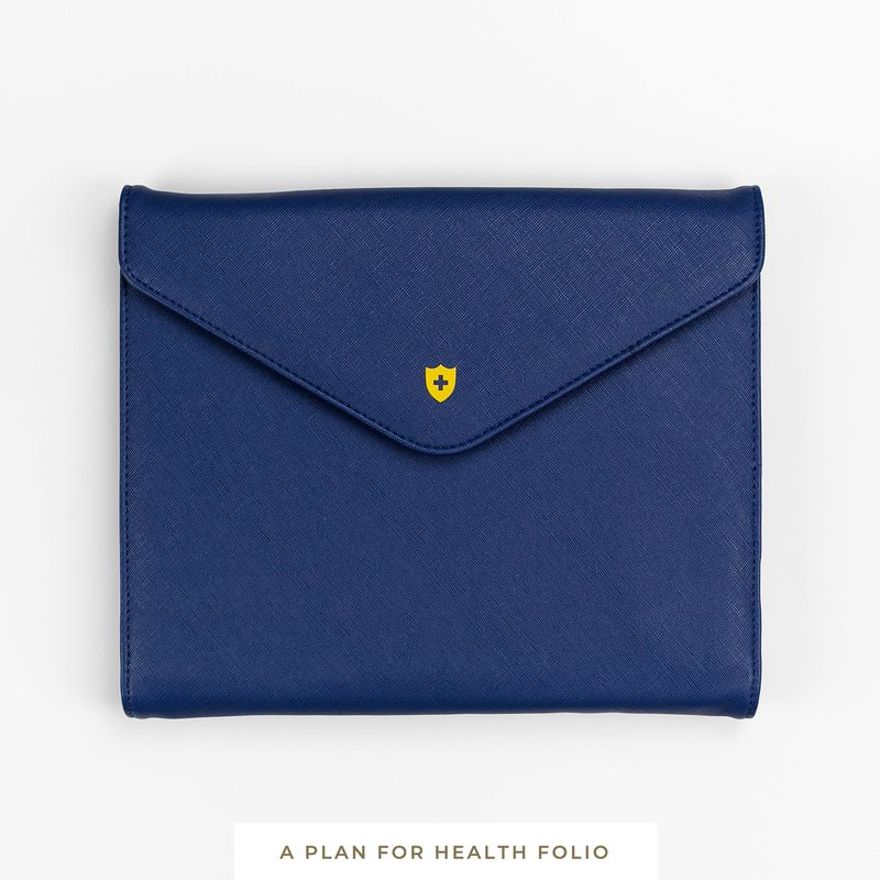 A Plan for Health || Vegan Leather Folio