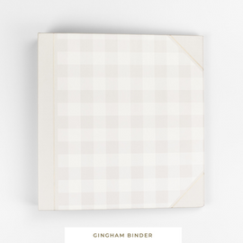 Binder System || Gingham 3-Ring Binder