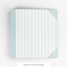Binder System || Green Stripe 3-Ring Binder