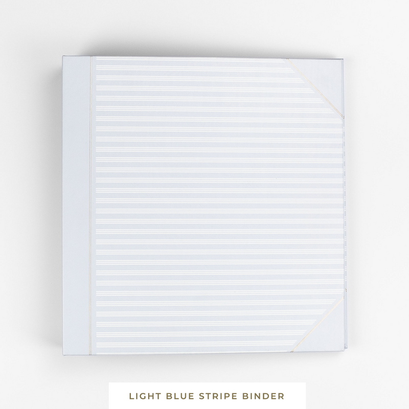 Binder System || Blue Stripe 3-Ring Binder