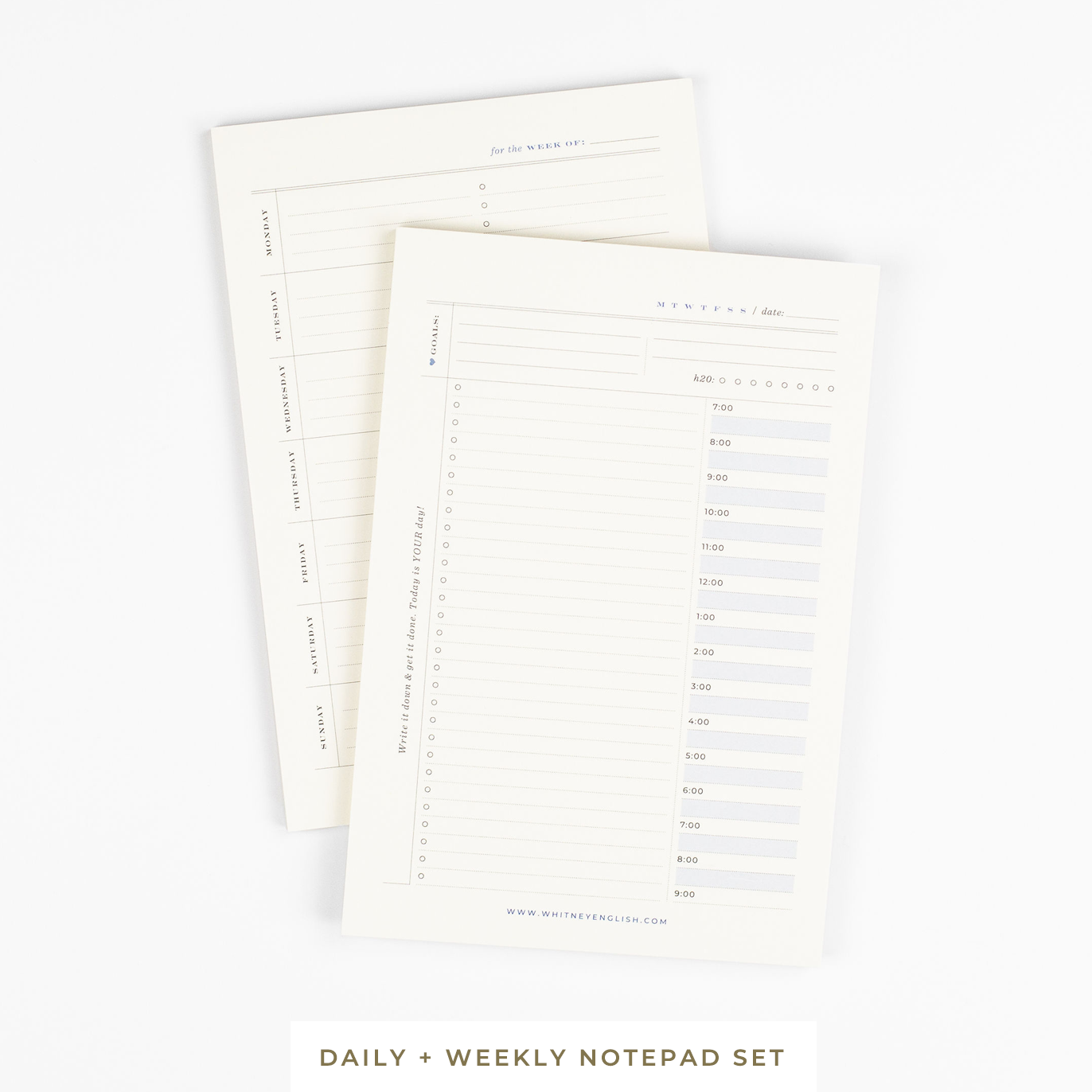 Daily & Weekly Notepad Set ($22 Value!)