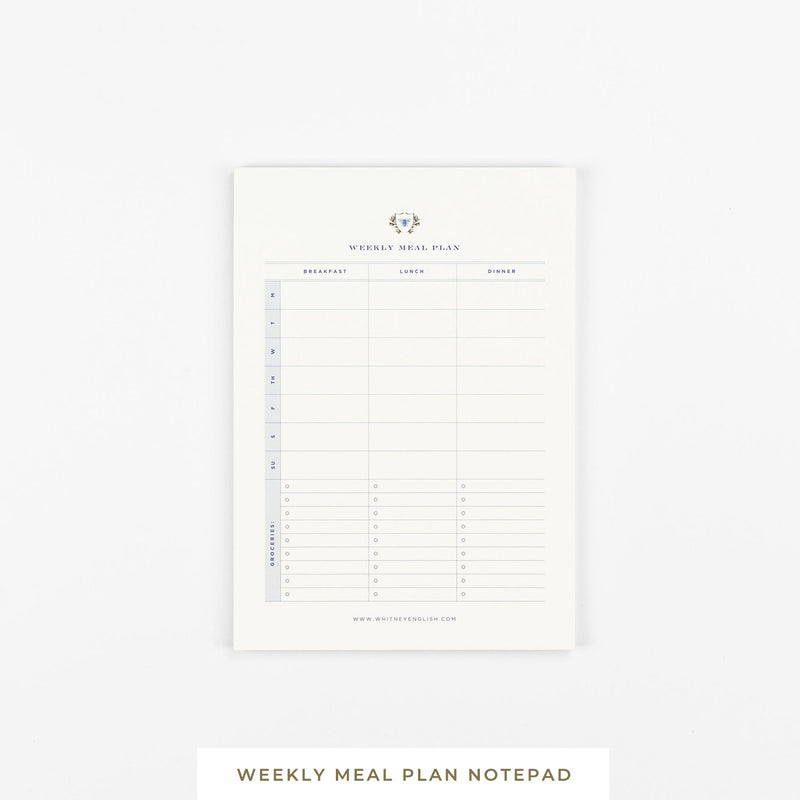 Sticky Notepad || Weekly Meal Plan