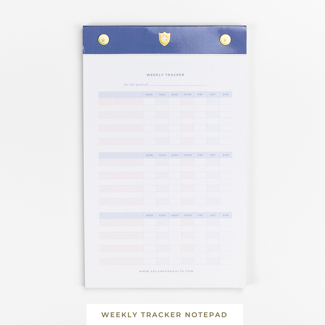 A Plan for Health || Weekly Health Tracker Notepad