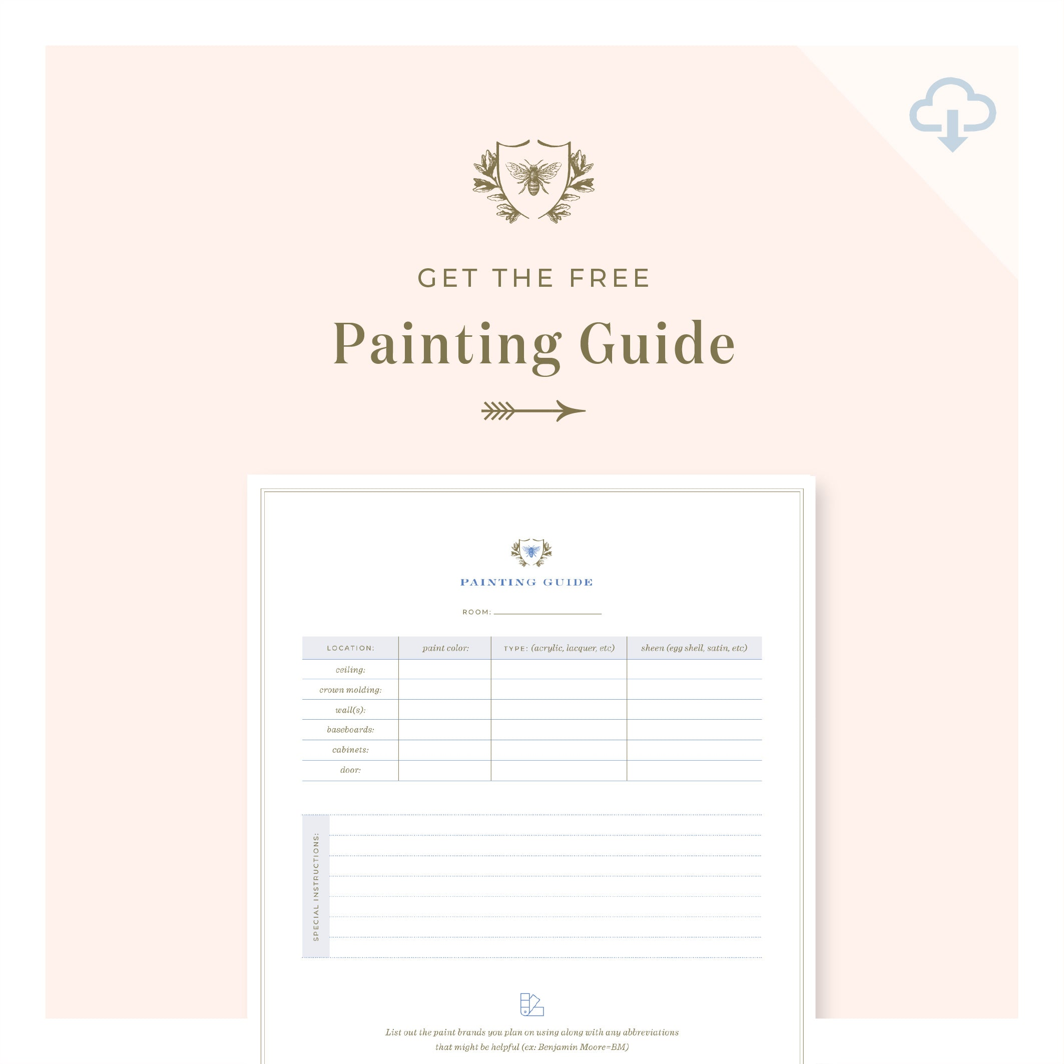 Printable || Painting Guide
