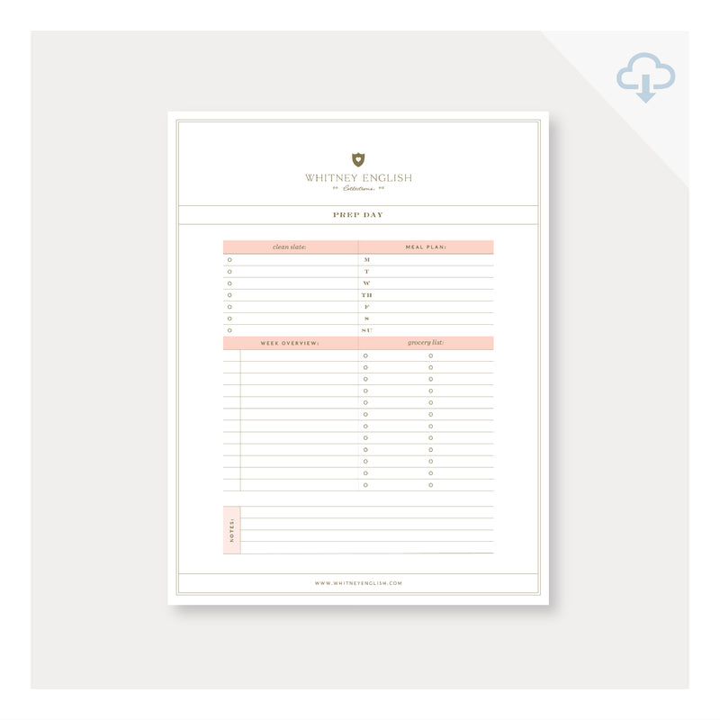 Printable || Prep Day Checklist