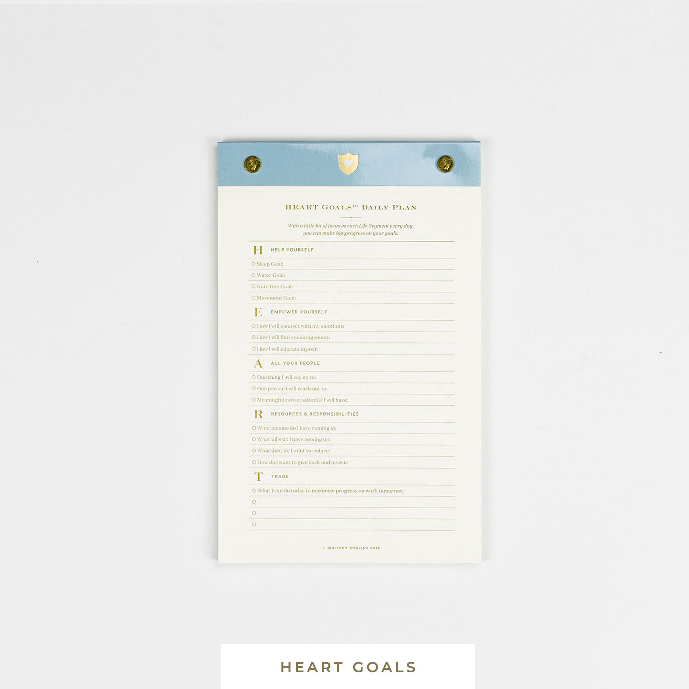 Notepad || HEART Goals Daily Plan