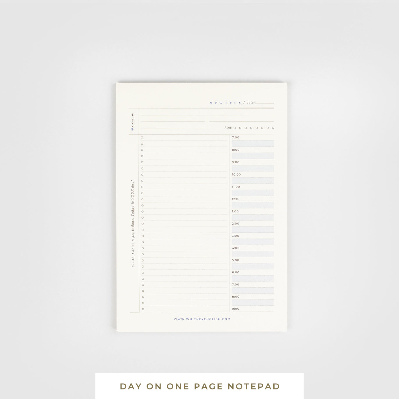 Sticky Notepad || Day on One Page