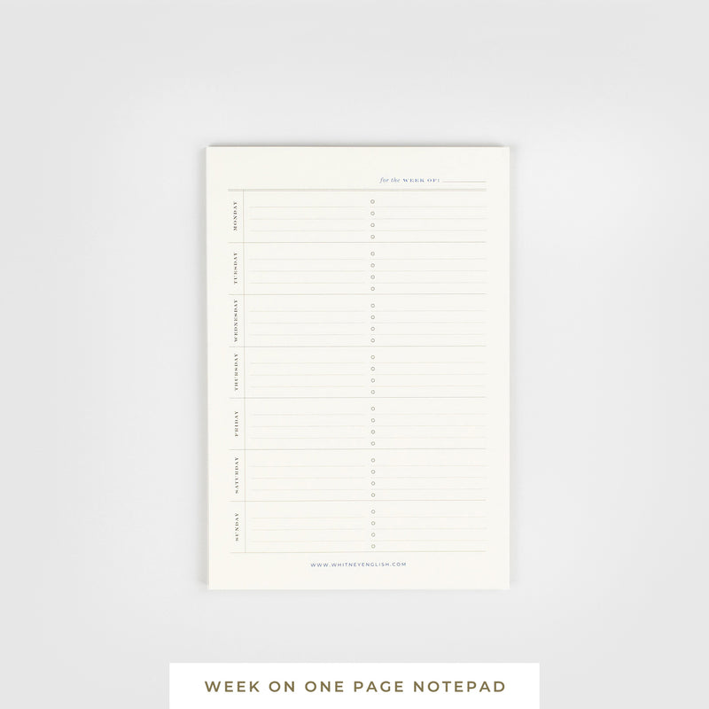 Sticky Notepad || Week on One Page