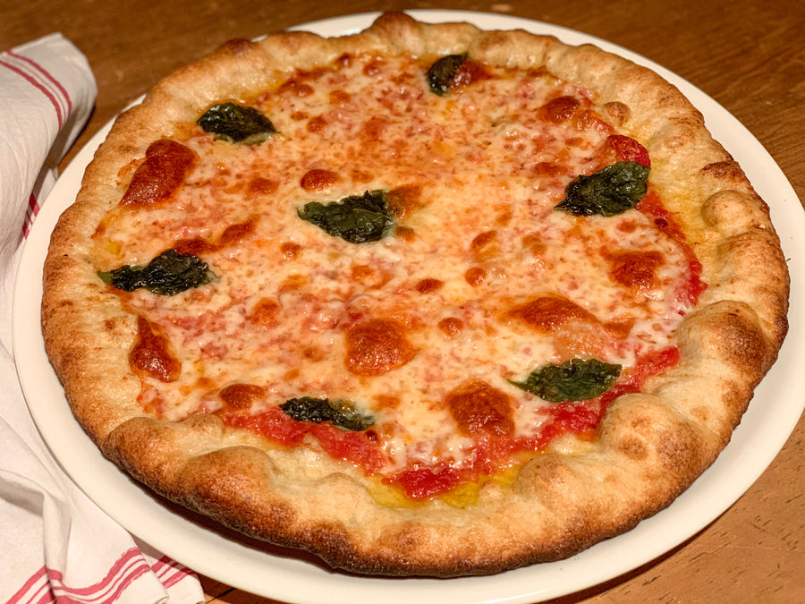 Beautiful Margherita Pizza. Can you believe it's frozen and gluten-free?!