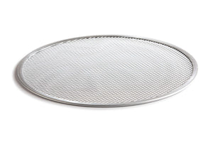 Etalia aluminum pizza screen from side angle on white background