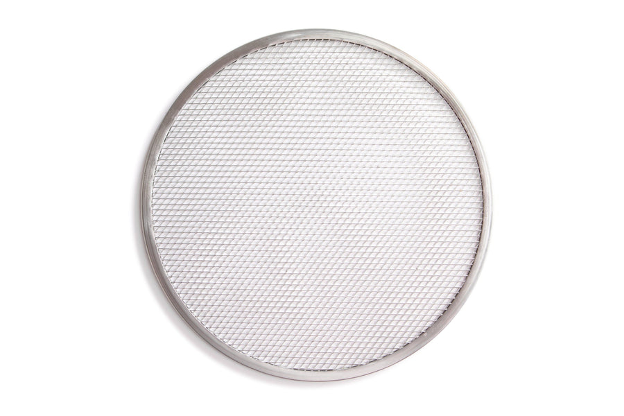 Etalia aluminum pizza screen from top down on white background