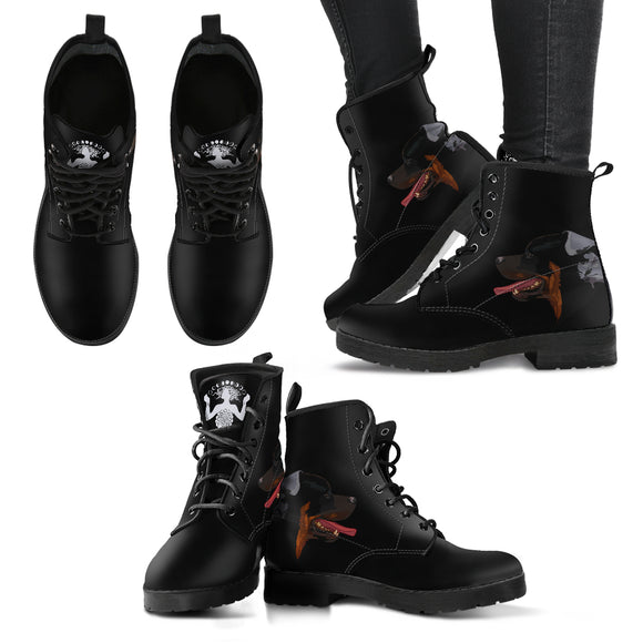 Stylish Women's Leather Dog Boots