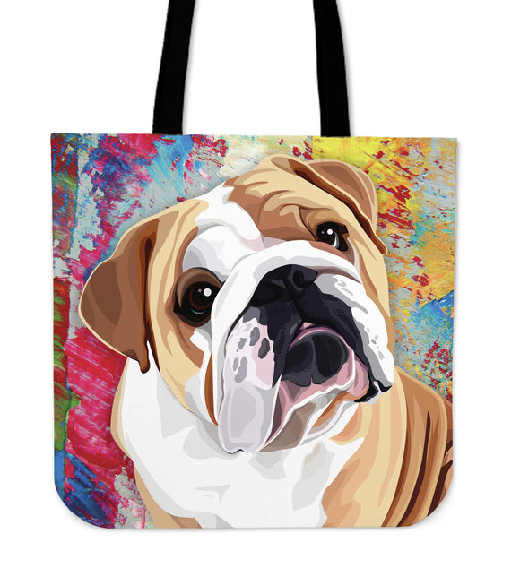 Stylish Bulldog Tote Bag