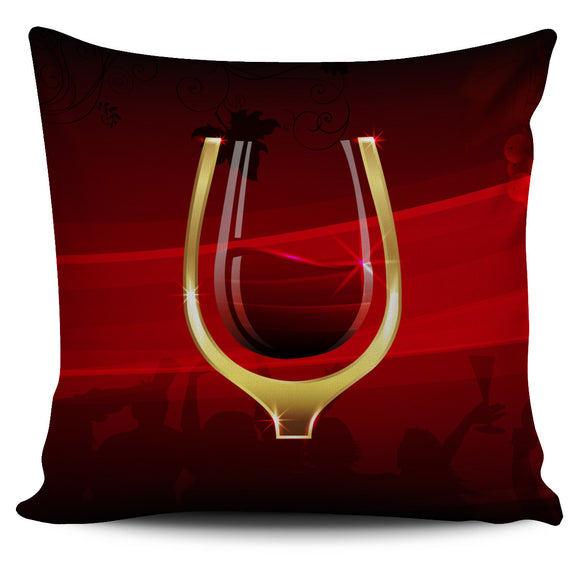 Chic Wine Glass Pillow Covers