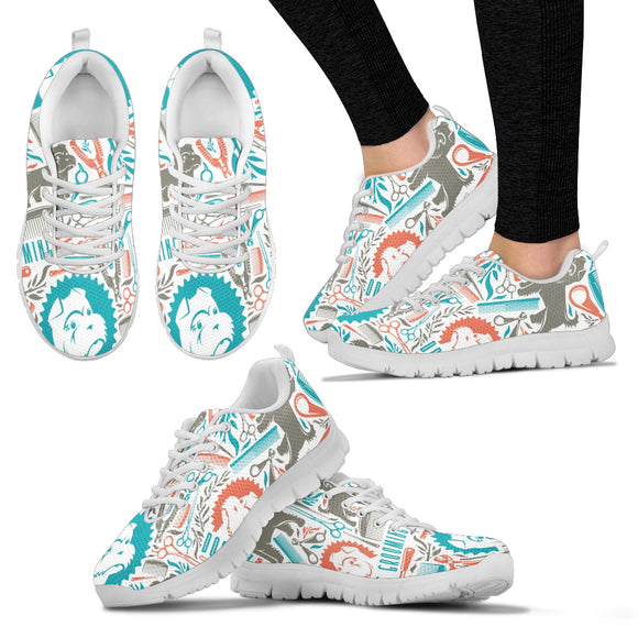 Stylish Dog Grooming Women's Sneakers