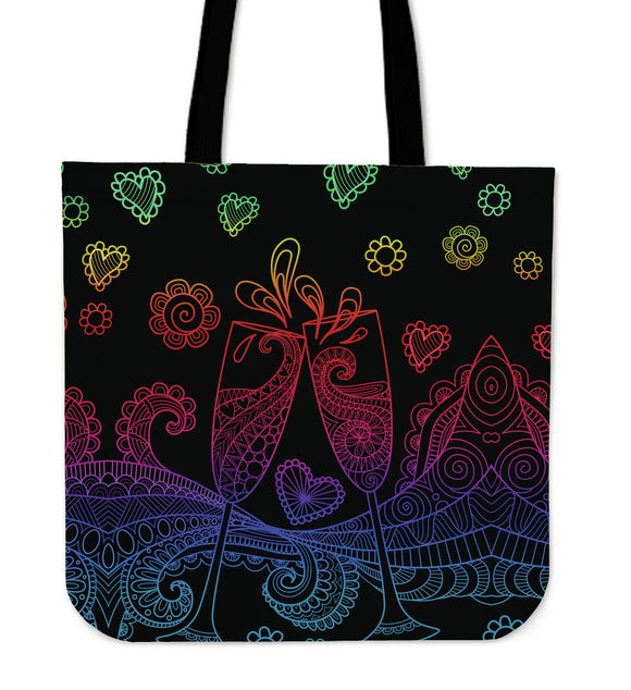 Chic Celebrate Tote Bag for Champagne & Wine Lovers