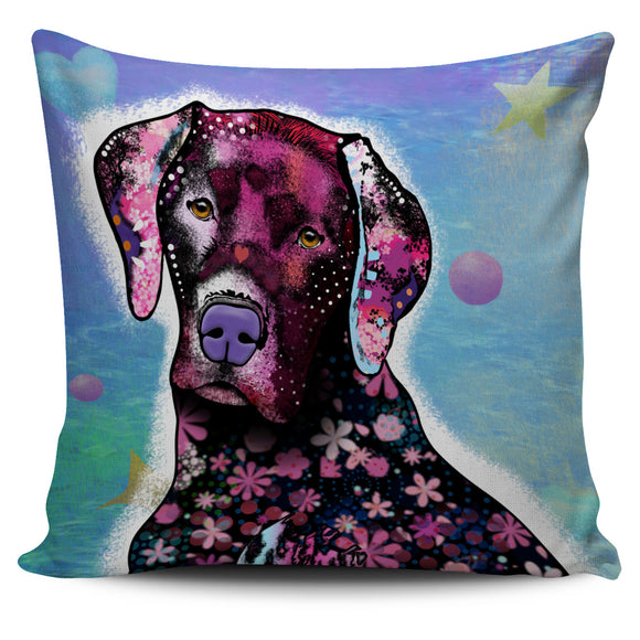 Fashionable and Artistic Blue Dog Pillow Cover