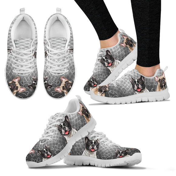 Stylish French Bulldog Women's Sneakers