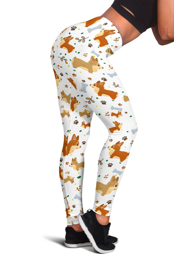 Cute Corgi Dogs Leggings