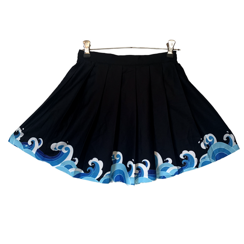 Great Wave Pleated Skirt