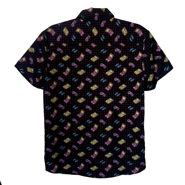 Black Gamefriend Button Up Shirt